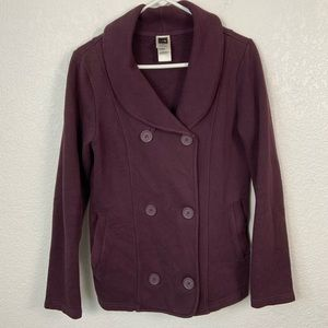 The North Face Purple Double Button Sweater Med